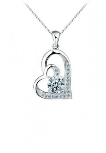 Vivere Rosse silver Vivere Rosse Glint of Heart Necklace VI014AC46KSFMY_1
