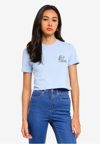 Factorie blue Fitted Graphic T-Shirt E59EAAA028377AGS_1