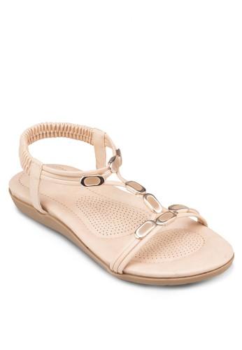 T字閃飾涼鞋, 女鞋, zalora 泳衣鞋