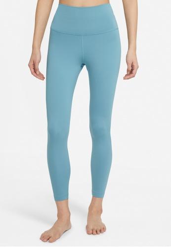 Nike blue Womens Yoga 7/8 Tights 7706BAA53F52AEGS_1