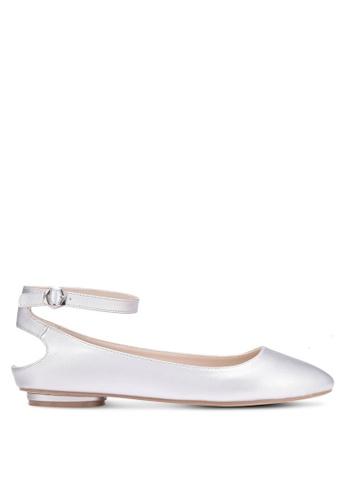 ZALORA silver Ankle Cut-Out Flats 65964SH67067EBGS_1