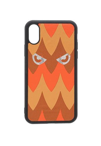 POROLUXE orange PHONE CASE FOR IPHONE X FCB84AC5999898GS_1