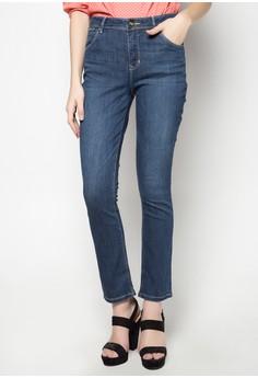 Regular Waist, Straight Leg Denim Pants