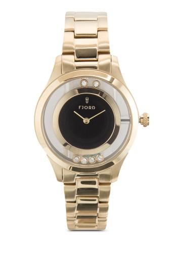 Karin zalora 內衣不銹鋼圓框手錶, 錶類, 飾品配件