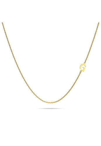 Bullion Gold gold BULLION GOLD Bold Alphabet Letter Initial Charm Necklace in Gold Tone G 0F379AC8CA4B29GS_1