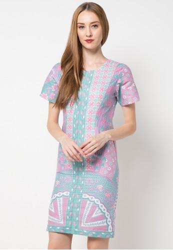 Le Viel Batik purple Rena Minidress Sinaran LE804AA56VOPID_1