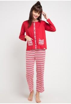7fa74b5007 Puppy red and multi Stripe Basic Sleepwear EE01EAAEEC1AF2GS 1