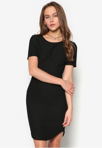 暗紋貼身洋裝zalora 台灣門市, 服飾, 服飾