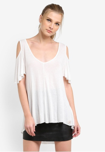 Superdry white BOHO OFF SHOULDER TOP SU137AA0S4EOMY_1