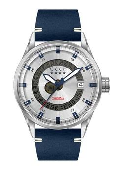 9939230c1 CCCP blue CCCP Men s Blue Genuine Leather Watch - CP-7032-03  72127ACE96974CGS 1