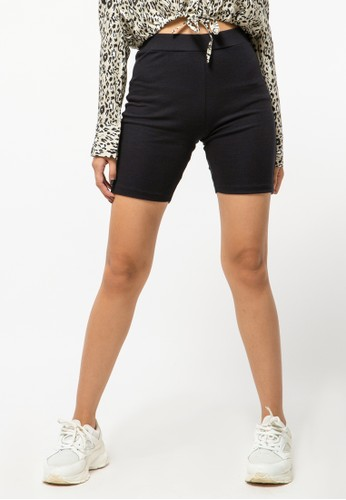COLORBOX black Ribbed Cycling Shorts 245E1AA1C51C7AGS_1