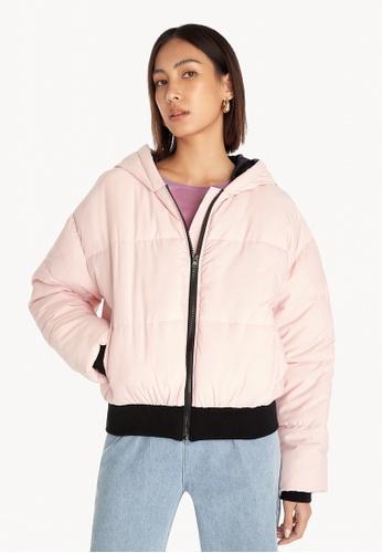 Pomelo pink Puffer Jacket - Pink A55CDAA3145015GS_1