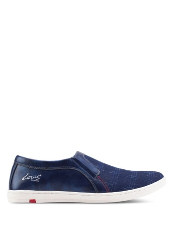 Louis Cuppers blue Basic Canvas Slip Ons LO977SH87ZJKMY_1