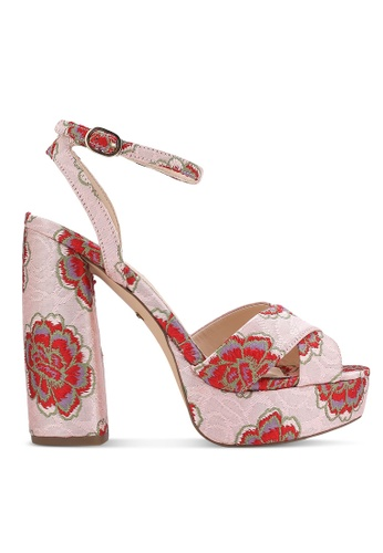 TOPSHOP pink LOLLIE Embroidered Platform Shoes TO412SH0RCFYMY_1