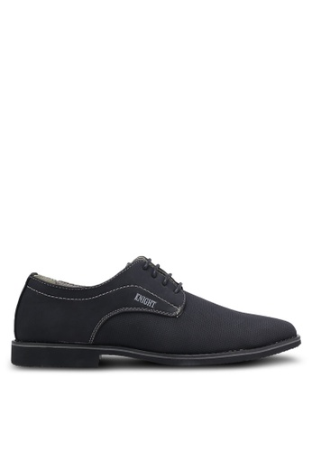 Knight black Lace Up Business Shoes KN875SH0RF90MY_1