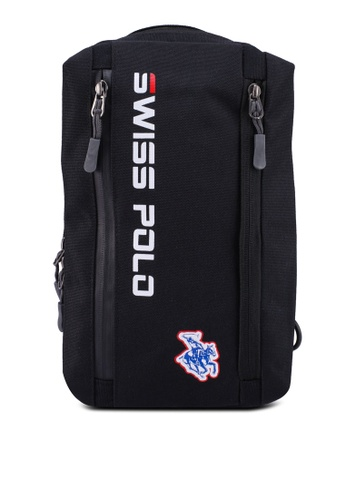 Swiss Polo black Logo Chest Bag C8576ACB7F181DGS_1