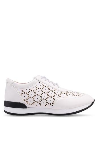 Nose 白色 麂皮雕花運動鞋 ABB97SHF6C4FC7GS_1