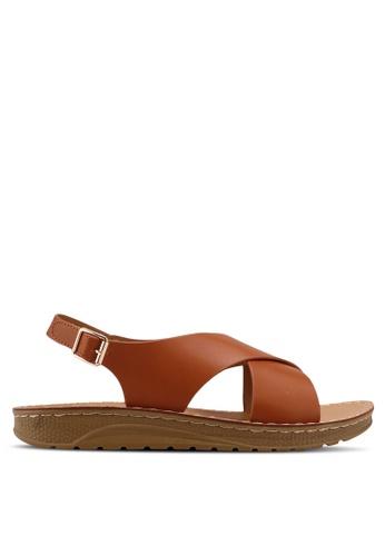 Noveni brown Strappy Sandals BBCB5SH697CE73GS_1