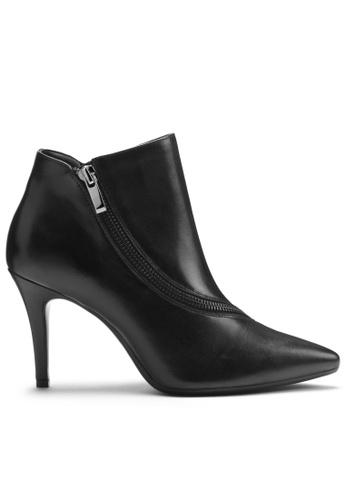 AEROSOLES black Deadline Leather Heeled Boots 909CDSHA74D84BGS_1
