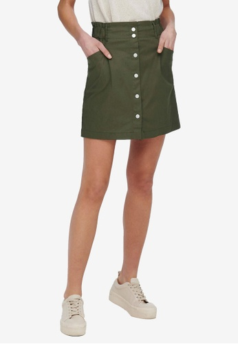 ONLY green Razzle Skirt B317EAAC7BBB0FGS_1