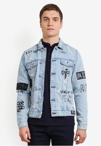 Only & Sons blue Doodle Denim Jacket ON662AA0SE48MY_1