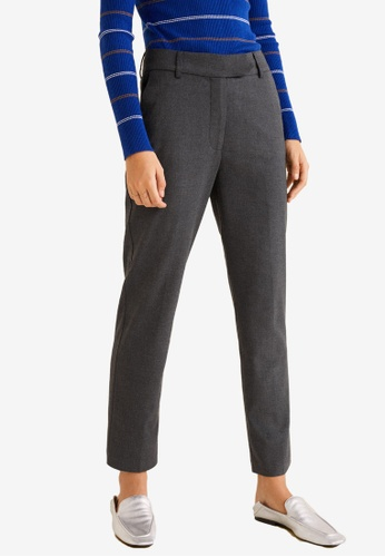 Mango grey Straight Suit Trousers 52B60AA2496016GS_1