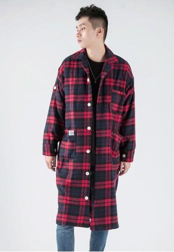 格子花呢長esprit retail款襯衫, 服飾, 格紋襯衫