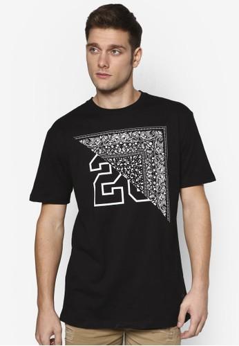Pesprit地址aise 印花文字設計 TEE, 服飾, T恤