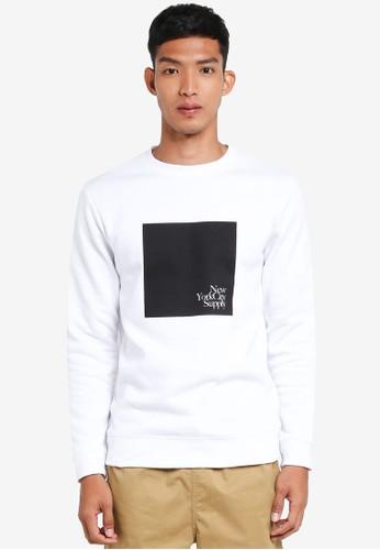 Cotton On white and multi Crew Fleece Sweatshirt 4E76DAA417BAD3GS_1