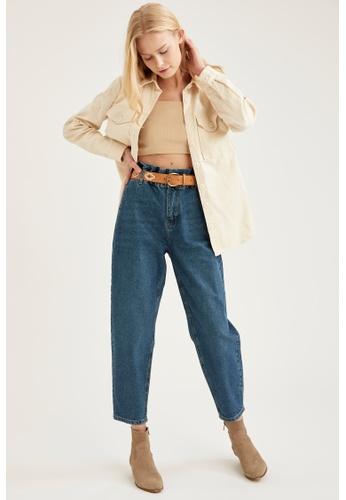 DeFacto blue High Waist Paperbag Jeans DA375AA83FB2E3GS_1