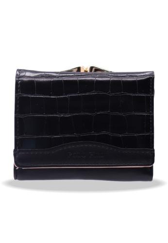 Polo Hill black Polo Hill Textured Flap Short Wallet 75C16AC5D17B3FGS_1