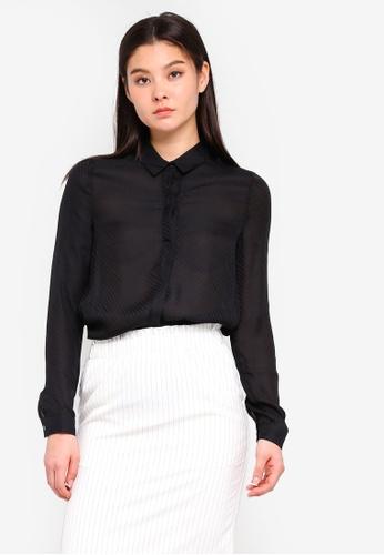 ICHI black Close Shirt 2C1F7AA527B4E1GS_1
