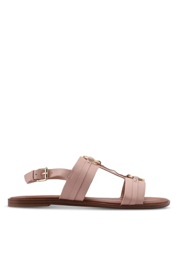1a8771725eb5 ALDO pink and beige Adeindra Slingback Sandals AD6B7SHEAC1772GS 1