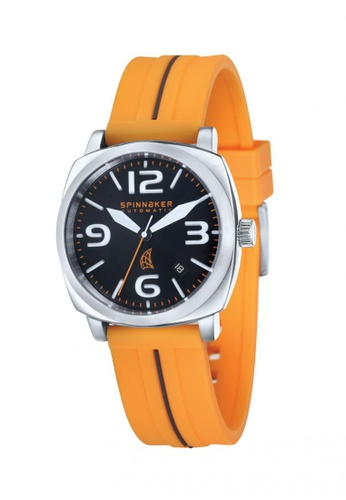 Spinnaker orange Hull Rubber Strap Watch SP641AC30LNLPH_1