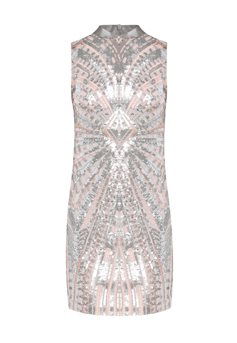 Bright Selfridge Multi Sequin Miss Dress Chinoiserie Premium Silver PqwA880