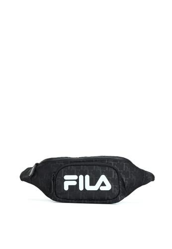 FILA black Athletics Unisex All Over FILA Logo Waist Bag 386D4AC5877918GS_1