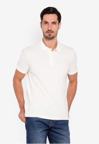 OVS 白色 基本Polo 襯衫 D2423AAFF60EB9GS_1