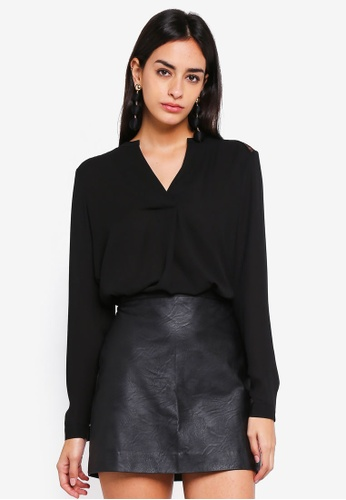 Vero Moda black Gudrun Long Sleeve Top 8B193AAD110BA2GS_1