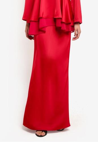 BYN red Mermaid Style Skirt BY059AA07VLOMY_1