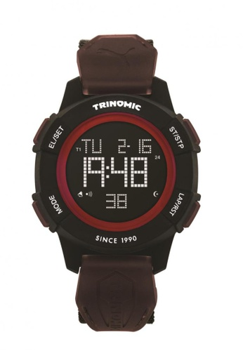 Puma black and red Puma Trinomic Black/Red Sports Function Watch PU440AC28CTZSG_1