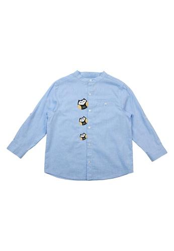Vauva blue Vauva Boys Little Three Owls Casual Shirt - Blue 0BBCEKA7A0CAE5GS_1