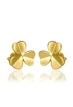 Mikaela 18K Gold Plated Clover Earrings