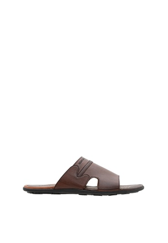 SEMBONIA brown SEMBONIA Men Synthetic Leather Sandal (Dark Brown) AE6CASHD4B0B34GS_1