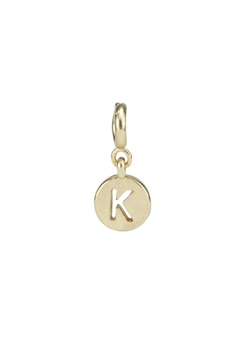 My Flash Trash gold Gold letter charm b 7B33DAC4462B38GS_1