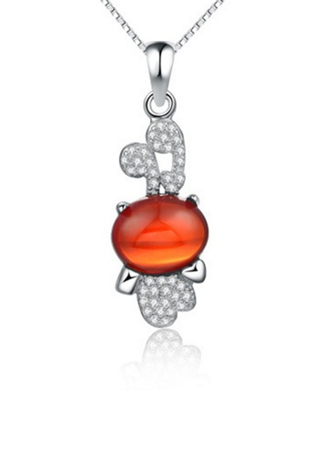 LYCKA red and silver LPP88103 S925 Silver Necklace 8CB9BACB19060CGS_1