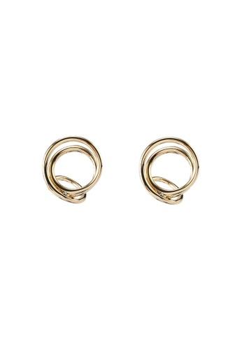 GLOBAL WORK yellow Spiral Earrings A6DE6AC5D62831GS_1