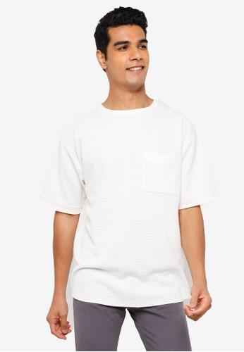 RAGEBLUE white Knit T-Shirt 5971AAAAE81E0FGS_1