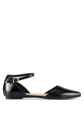 TOPSHOP black Annie Pointed Shoes 2AB7FSH2F3002BGS_1