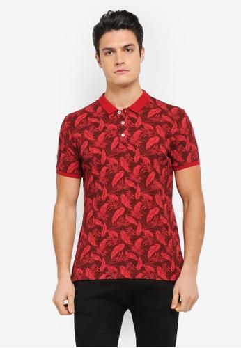 JAXON red Summer Tropical Polo Shirt 5ECF1AAC4909E5GS_1