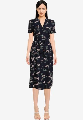 Vero Moda navy Saga Calf Shirt Dress ECAD6AAA4D0DDCGS_1